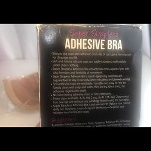 Super Strapless Intimates & Sleepwear - Super Strapless Adhesive Bra B New
